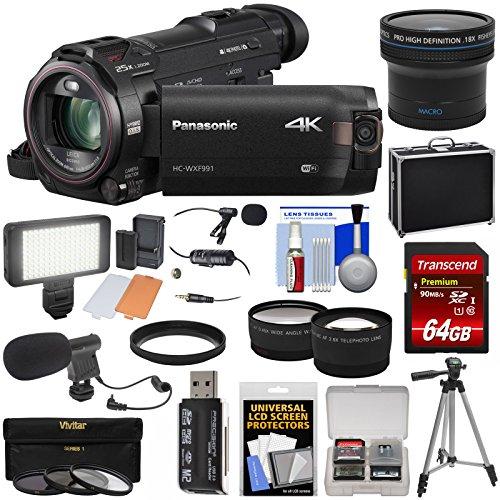 Panasonic HC-WXF991 Wi-Fi 4K Ultra HD Video Camera Camcorder