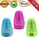 Bug Zapper Electronic Insect Killer,Mosquito Killer Lamp,Eliminates Most Flying Pests! Night Lamp (3P)