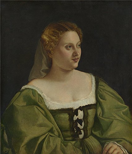Oil Painting 'Italian Venetian Portrait Of A Lady (1)', 8 x 9 inch / 20 x 24 cm , on High Definition HD canvas prints is for Gifts And Bed Room, Game Room And Garage Decoration, online