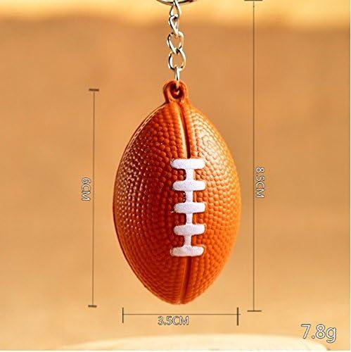 Llavero de pelota de críquet de fútbol, diseño de rugby: Amazon.es: Oficina y papelería