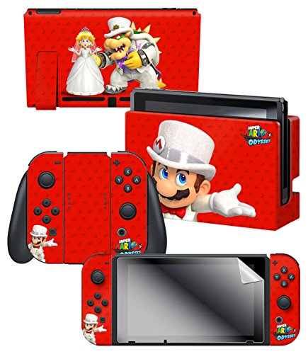 Controller Gear Nintendo Switch Skin & Screen Protector Set, Officially Licensed By Nintendo - Super Mario Odyssey… 1