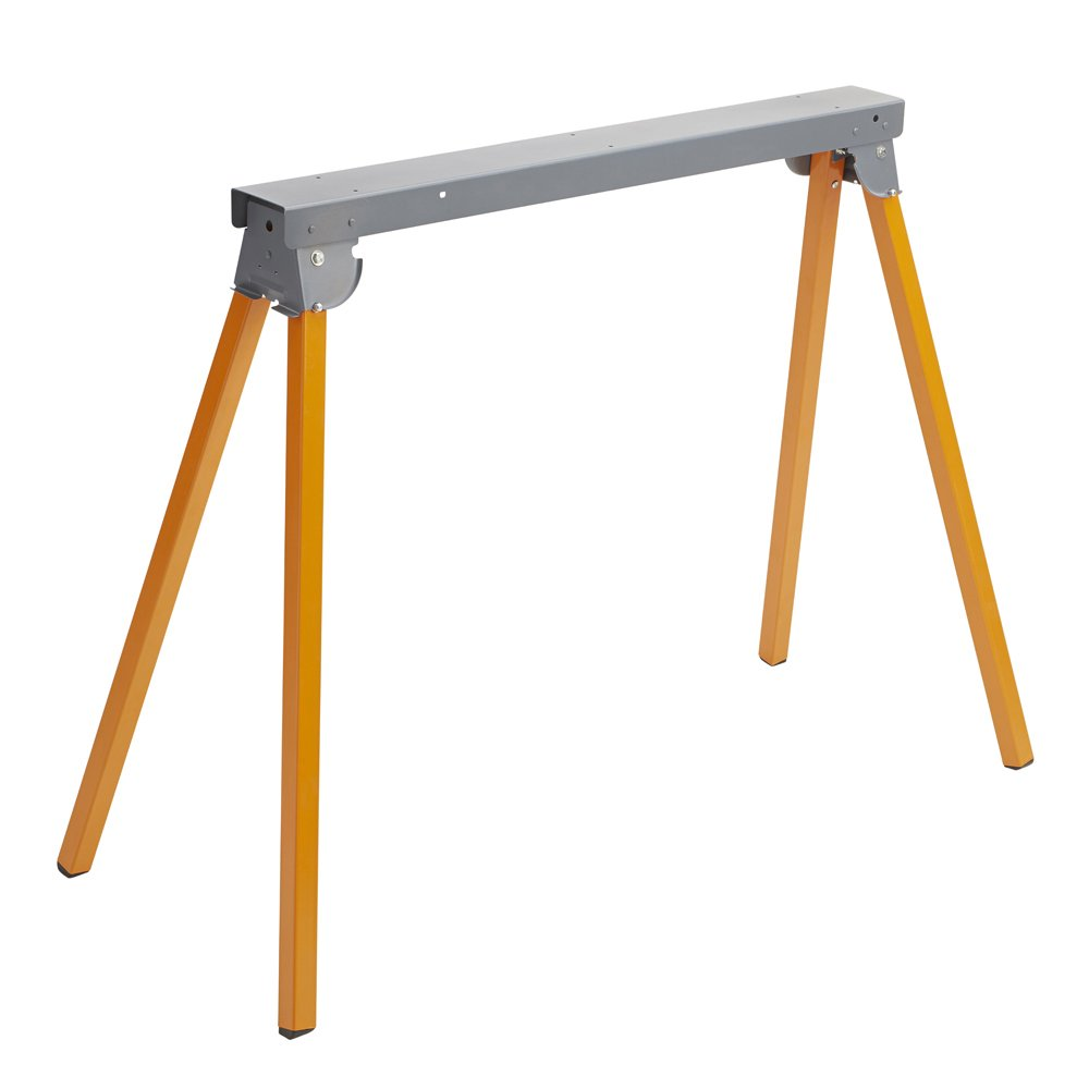 All Steel Folding Sawhorse Bora Portamate PM-3300. 33-Inch Tall Fold-up Heavy Duty Saw Horse. Fully Assembled, 500 lb. Capacity and Quickly Folds Up for Easy Storage