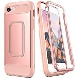 iPhone 8 Case, iPhone 7 Case, YOUMAKER Full Body Heavy Duty Protection Shockproof Slim Fit Case Cover for New Apple iPhone 8 4.7 inch (2017)/iPhone 7 with Built-in Screen Protector (Rose Gold/Pink)