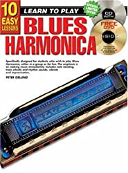 10 Easy Lessons Blues Harmonica Bk/CD