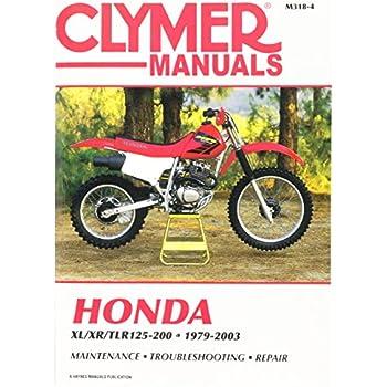 amazon com clymer m3184 repair manual manufacturer automotive rh amazon com Honda XR 125 1984 Honda TRX 200 Specifications