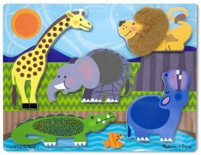 Melissa & Doug Zoo Peg - Melissa & Doug Zoo Animals Touch and Feel