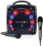 Bundle Includes 2 Items - Singing Machine SML283BK CDG Karaoke Player and Singing Machine SMM-205 Unidirectional Dynamic Microphone with 10 Ft. Cord