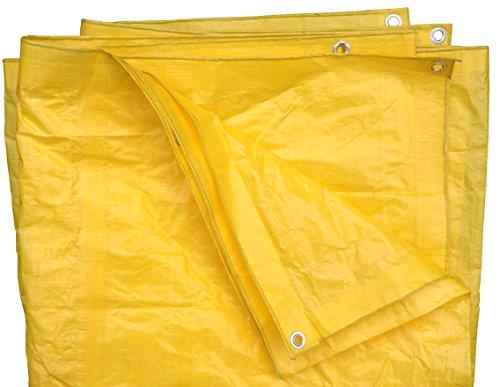 8 Ft X 10 Ft High Visibility Yellow Tarp - 3.3 Oz.
