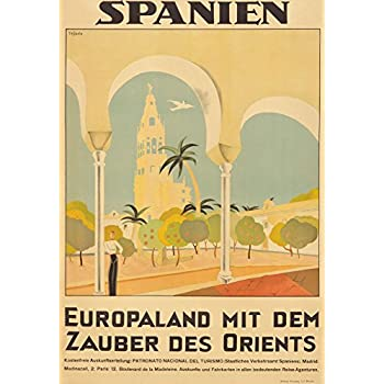 Spanien Vintage Poster (artist: Tejada) Spain c. 1929 (16x24 SIGNED Print Master Giclee Print w/ Certificate of Authenticity - Wall Decor Travel Poster)