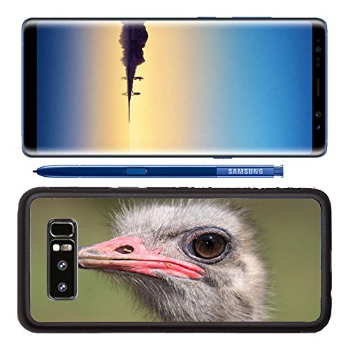Luxlady Premium Samsung Galaxy Note8 Aluminum Backplate Bumper Snap Case Portrait of a male ostrich with a large eye IMAGE ID 3780605