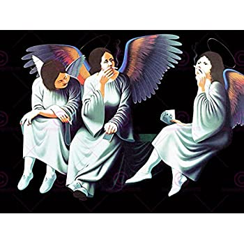 doppelganger33ltd music album cover black sabbath heaven hell angels 18x24 39 39 poster. Black Bedroom Furniture Sets. Home Design Ideas