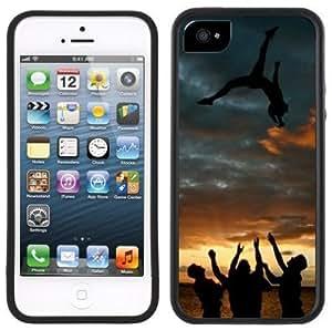 Cheerleader Cheerleading Handmade iPhone 5 Black Bumper Plastic Case