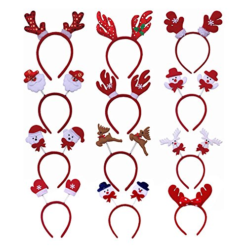 Halloween Costumes For Your Kids Ellen (Alotm (Pack of 12) Fun-Filled Christmas Headbands Holiday Party Santa Reindeer Snowman Headband Multidesign Hats Fits Kids,Boys,Girls for Party, Cosplay, Xmas Decoration)