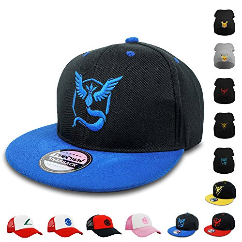 PopCrew [Embroidered Team Trainer Hat] Pokemon Cosplay Costume (Team Mystic S)