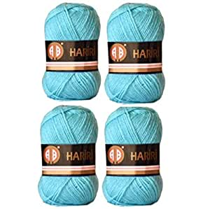 4X AB Hariri Light Blue Colour No.99224 Crochet and Knitting Yarn