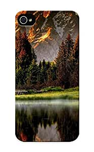 Podiumjiwrp Rugged Skin Case Cover For Iphone 5/5s- Eco-friendly Packaging(picturesque Mountain River )