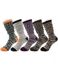 Tusong Women's 5 Pairs Soft Comfortable Warm socks media corta socks