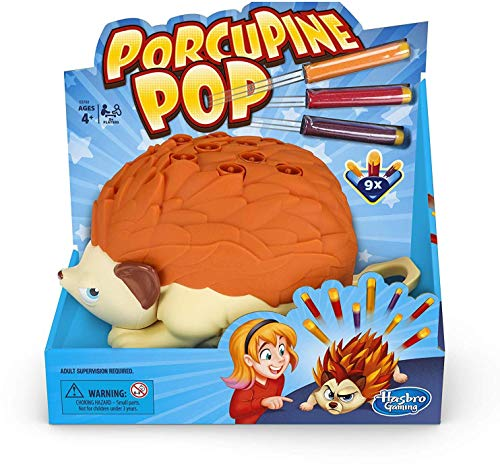 Hasbro Gaming Porcupine Pop Game for Kids Ages 4 & Up