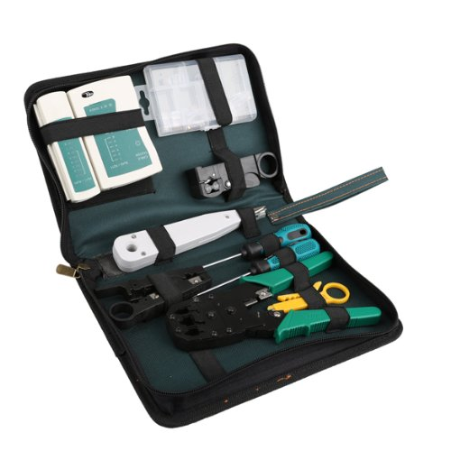 Vktech 11 in 1 Professional Network Computer Maintenance Repair Tool Kit Toolbox ()