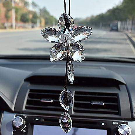 Amazon Com Car Accessories Crystal Car Ornaments Jewelry High End