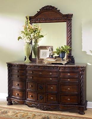 Dark Brown Dresser with Mirror by Ashley Furniture