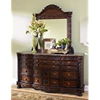Dark Brown Dresser with Mirror by Ashley Furniture
