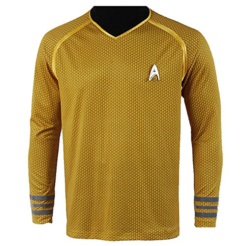 CosplaySky Star Trek Into Darkness Captain Kirk Shirt Uniform Costume Medium