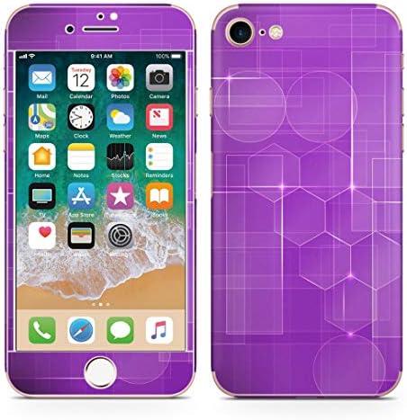 igsticker iPhone SE 2020 iPhone8 iPhone7 専用 スキンシール 全面スキンシール フル 背面 側面 正面 液晶 ステッカー 保護シール 000421 ラグジュアリー 紫