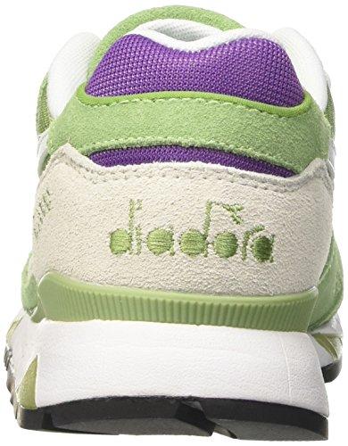 Diadora V7000 Nyl Ii, Zapatilla de Deporte Baja del Cuello Unisex Adulto Verde (Verde Bosco/viola Amaranto)