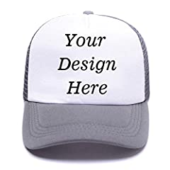 Men's Women's Custom Hat Graphic Print Design The hat is customized, you can add your own favorite picture or team text in front of the hat, it will make different from others. Why We Love It Looking to cheer your team, promote your brand, or...