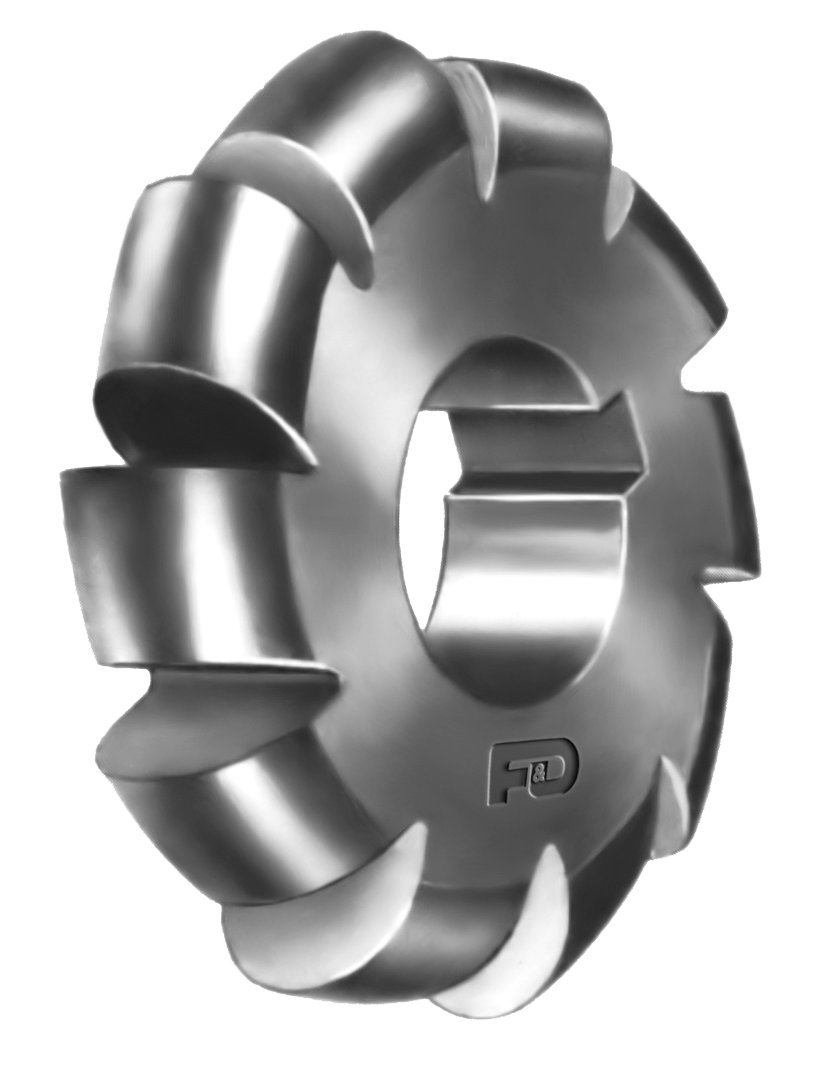 F&D Tool Company 12493-C01 Convex Cutter, Arbor Type, High Speed Steel, Form Relieved, 1/16'' Circle Diameter, 2 1/4'' Cutter Diameter, 1'' Hole Size