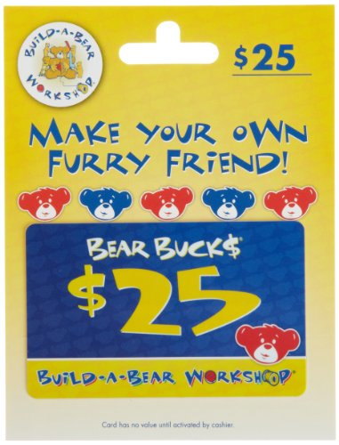 Build-A-Bear Gift Card  $25 Online Gift Certificates