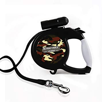Retractable Dog Leash,Pet Leash 26 ft /16 ft Nylon Ribbon for Medium Large Dogs, Portable Design with One Button Brake/Lock, Tangle Free, Heavy Duty ...