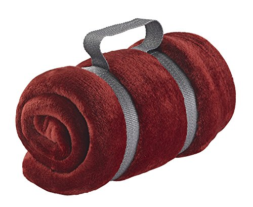 Lewis Clark Microplush Blanket Burgundy