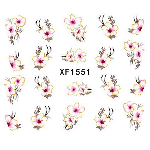 zsjhtc Water Transfer Decals Nail Art Designs Stickers High Heels Flower Butterfly Manicure Tips Decorations Women Kids Girls XF1551]()