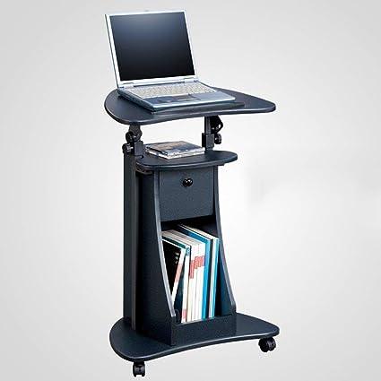 SED Mesas pequeñas Mesas Escritorio móvil Altura Ajustable Ordenador portátil Mesa de Trabajo Plegable y Simple
