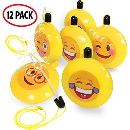 Kidzlane Emoji Bubble Necklaces | Bubbles Party Favors -