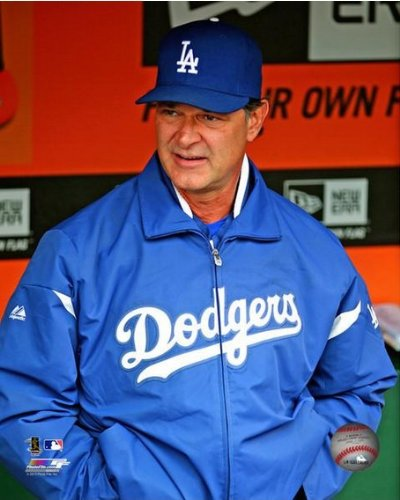 "Don Mattingly Los Angeles Dodgers 2013 MLB Action Photo 8"" x 10"""