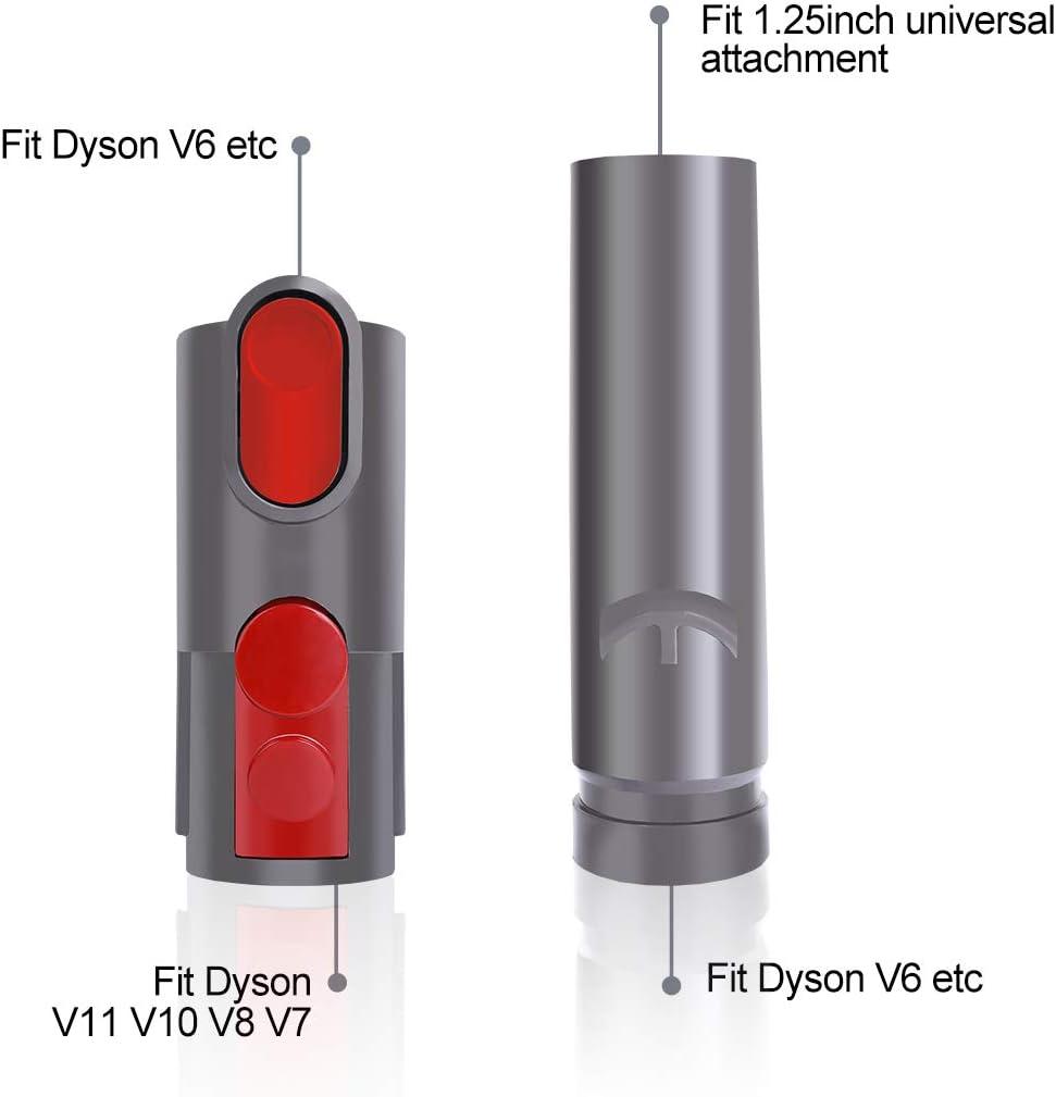 LANMU Adaptador de Accesorio para aspiradora Dyson V11 V10 V8 V7 V6, Adaptador Universal para Herramientas (Gris): Amazon.es: Hogar