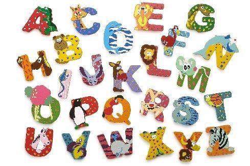 A for Alligator - Wooden animal alphabet letter: Amazon.co.uk: Baby