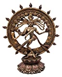 Atlantic Collectibles Hindu Shiva Nataraja Figurine Lord Of The Dance Cosmic Dancer God Statuette 9'' H