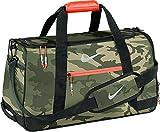 Nike Sport Duffel III Gym Bag, MD Olive/Silver/Bright Crimson Camo