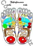Reflexzonenübersicht - Füße - A3 Karte (Lehrtafeln / Übersichtskarten)
