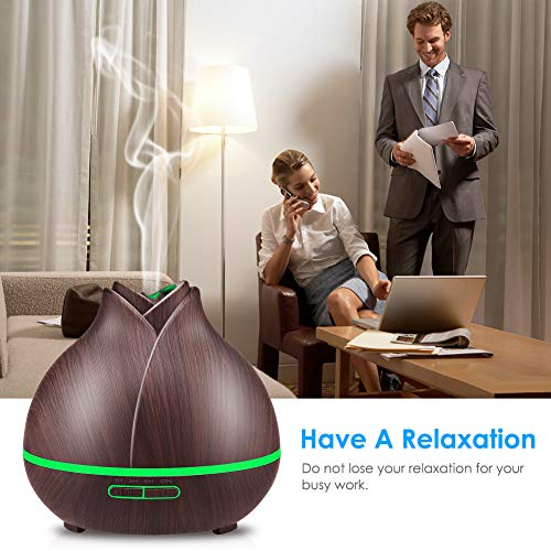 URPOWER Essential 10+ Hours Aromatherapy Diffuser for Essential Oils 2 Mist Modes, Timer Setting, Humidifiers Home, Office