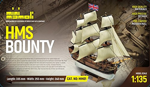 MINI MAMOLI - Modello kit barca HMS BOUNTY serie MINI MAMOLI in scala 1:135 - DUS_MM01