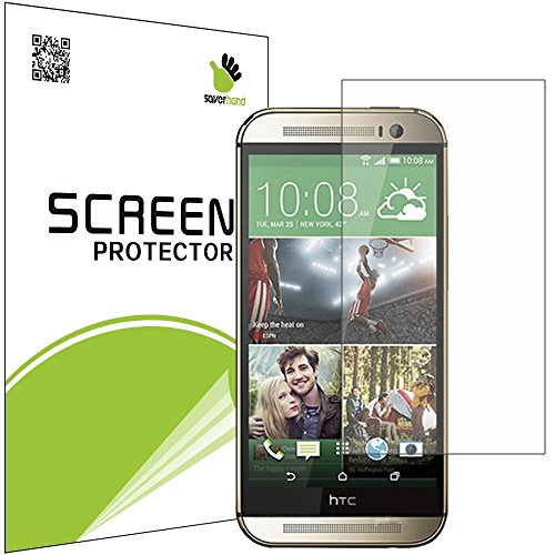 [5 PACK] SAVER HAND - High Definition Clear Screen Protector for HTC One M8 Mini