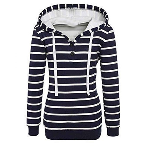 Chic Longues Manches Shirt Sweatshirt Sweat Rayures Sweat Capuche Kangrunmy Imprim Femmes Chemise Tops Pullover Blouse Tunique C Hoodie Chemisier t7Etqxwp
