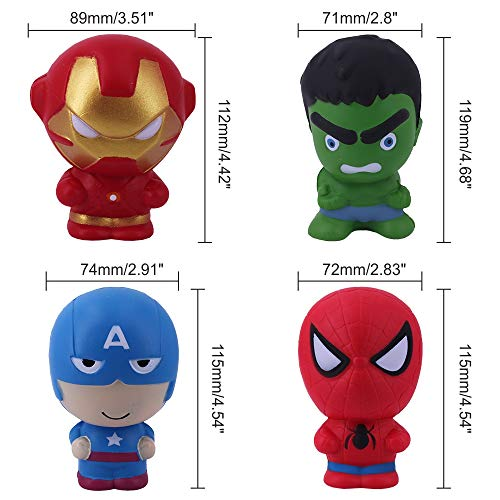 MagicBalls Marvel Hero Squishy Jumbo Toys Pack Slow Rising Super Soft with Scented to Kids for Venting and Relaxing by MagicBalls