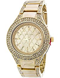 2Chique Boutique Women's Quilted Texture Crystal Fashion Watch