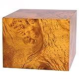 MKY MDF Burlwood Veneer Large Adult Sized Wooden Human Funeral Cremation Urn